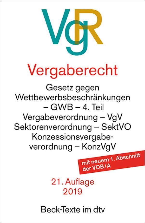 VERGABERECHT (VgR) 20. Auflage 2018 Beck-Texte im dtv *****NEU ...