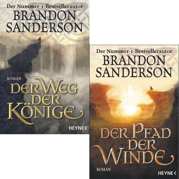 BRANDON SANDERSON Die Sturmlicht-Chroniken 1 + 2 IM SET
