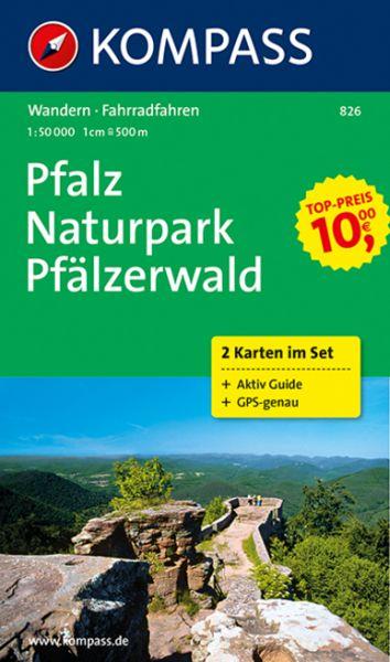 KOMPASS Pfalz - Naturpark Pfälzerwald 1 : 50 000 - 2 Karten im Set