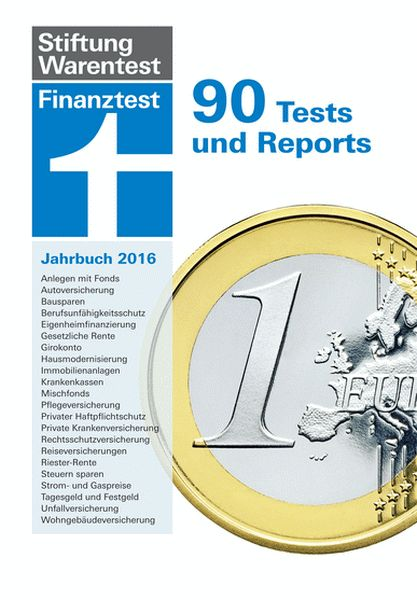 stiftung warentest finanztest jahrbuch 2016 90 tests und reports ebay. Black Bedroom Furniture Sets. Home Design Ideas
